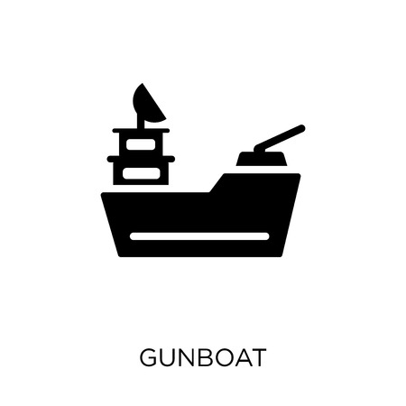 gunboat icon. gunboat symbol design from Nautical collection. Simple element vector illustration on white background.