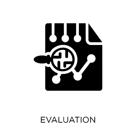 Evaluation icon. Evaluation symbol design from Artificial Intellegence collection.