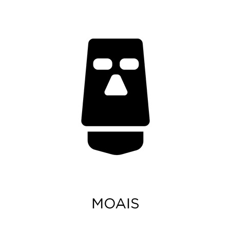 Moais icon. Moais symbol design from Travel collection. Simple element vector illustration on white background. Standard-Bild - 111618782