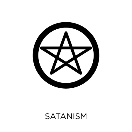 Satanism icon. Satanism symbol design from Religion collection. Simple element vector illustration on white background. Illustration