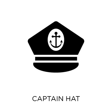 Captain Hat icon. Captain Hat symbol design from Nautical collection. Simple element vector illustration on white background.