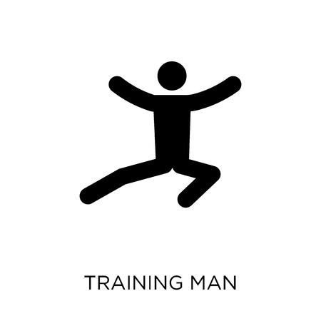 Training man icon. Training man symbol design from People collection. Simple element vector illustration on white background.