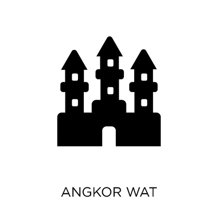 Angkor wat icon. Angkor wat symbol design from Architecture collection. Simple element vector illustration on white background.