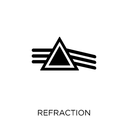 Refraction icon. Refraction symbol design from Science collection. Simple element vector illustration on white background. 版權商用圖片 - 111619786