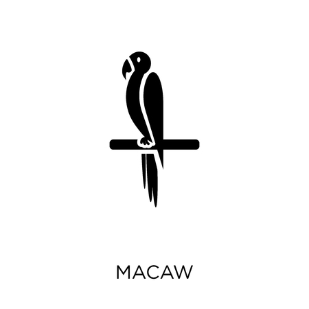 Macaw bird icon and symbol design from Animals collection. Simple element vector illustration on white background. Иллюстрация