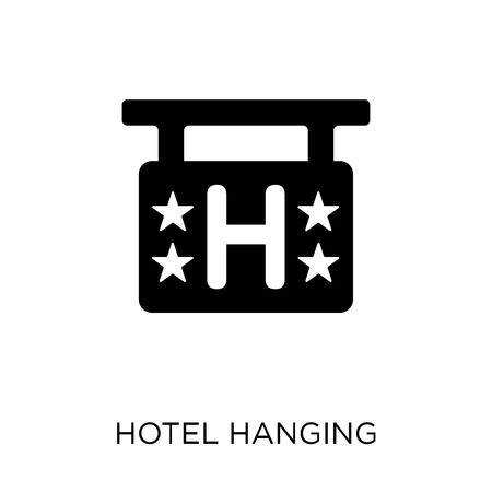 Four stars accomodation signage and symbol design from Summer collection. Simple element vector illustration on white background.
