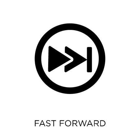 Fast forward icon. Fast forward symbol design from Web navigation collection. Simple element vector illustration on white background.