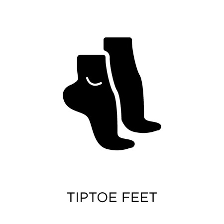 Tiptoe feet icon. Tiptoe feet symbol design from Human Body Parts collection.