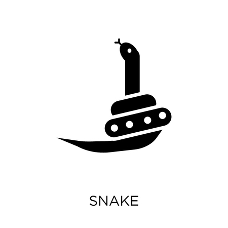 Snake icon. Snake symbol design from Animals collection. Simple element vector illustration on white background. Çizim