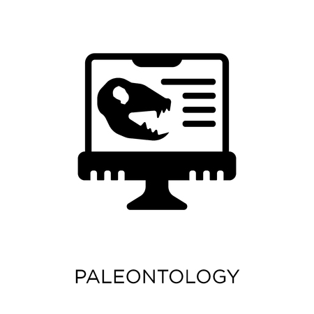 Paleontology icon. Paleontology symbol design from Online learning collection.