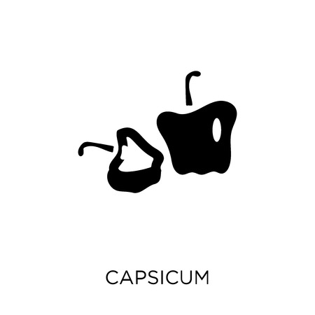 Capsicum icon. Capsicum symbol design from Agriculture, Farming and Gardening collection. Simple element vector illustration on white background. Illustration