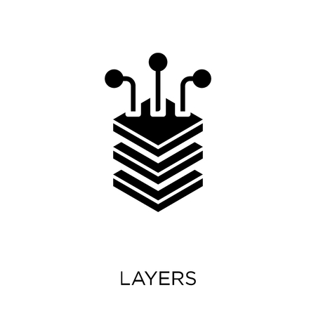 Layers icon. Layers symbol design from Artificial Intellegence collection.