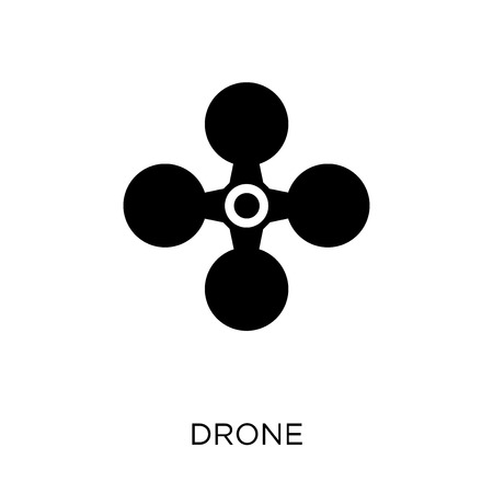 Drone icon and symbol design from Future technology collection. Illusztráció