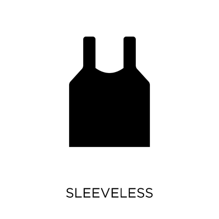 Sleeveless icon. Sleeveless symbol design from Gym and fitness collection. Simple element vector illustration on white background. 向量圖像