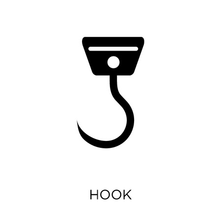 Hook icon. Hook symbol design from Nautical collection. Simple element vector illustration on white background. Vettoriali