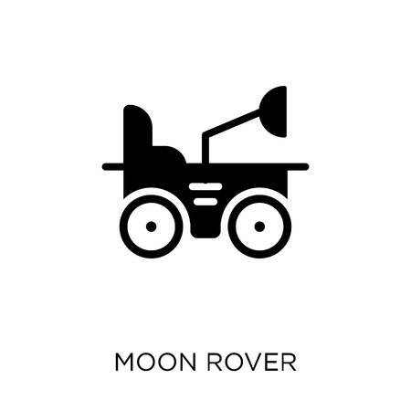 Moon rover icon and symbol design from Astronomy collection.