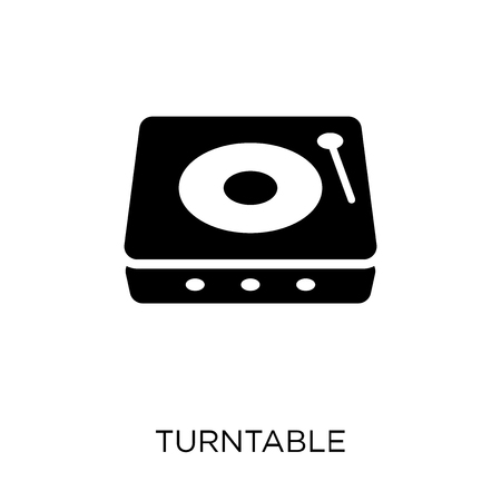 Turntable icon. Turntable symbol design from Music collection. Simple element vector illustration on white background.