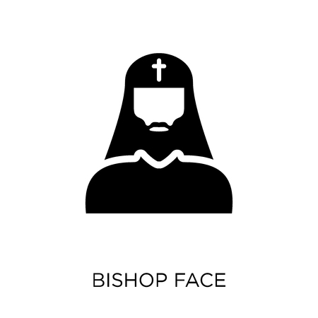 Bishop face icon. Bishop face symbol design from People collection. Simple element vector illustration on white background.