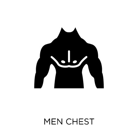 Men Chest icon. Men Chest symbol design from Human Body Parts collection. Illustration