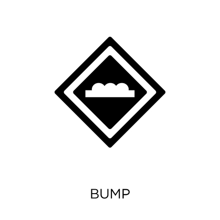 Bump sign icon. Bump sign symbol design from Traffic signs collection. Simple element vector illustration on white background.