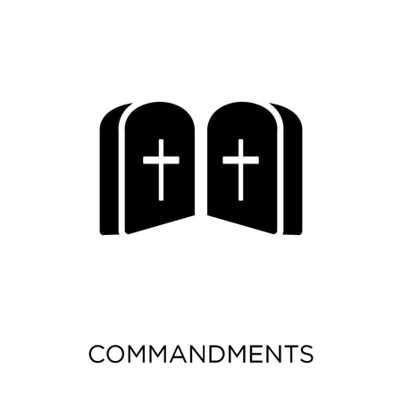 Commandments icon. Commandments symbol design from Religion collection. Simple element vector illustration on white background. Illustration