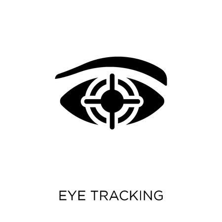 Icono de seguimiento ocular. Diseño de símbolo de seguimiento ocular de colección de inteligencia artificial. Ilustración de vector