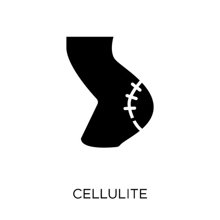 Cellulite icon. Cellulite symbol design from Human Body Parts collection.