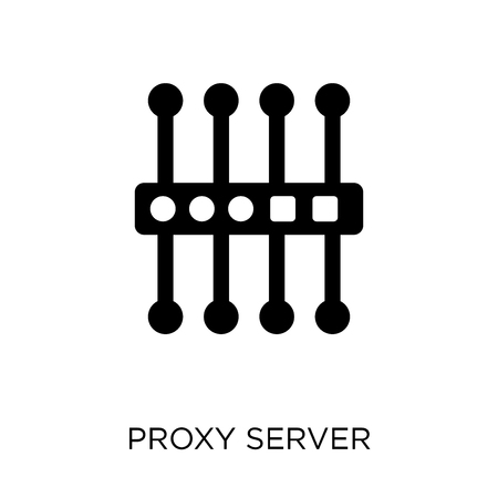 proxy server icon. proxy server symbol design from Networking collection. Simple element vector illustration on white background.