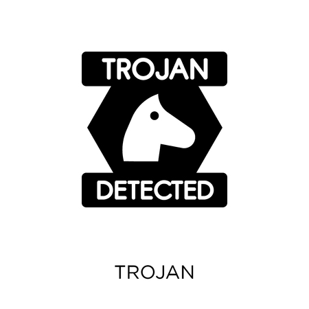 Trojan icon. Trojan symbol design from Internet security collection. Simple element vector illustration on white background.