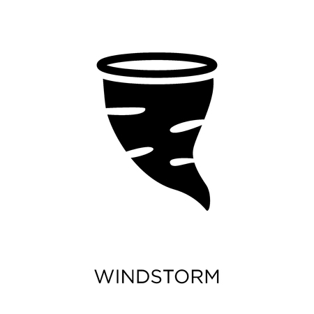 Windstorm icon. Windstorm symbol design from Nature collection. Simple element vector illustration on white background.