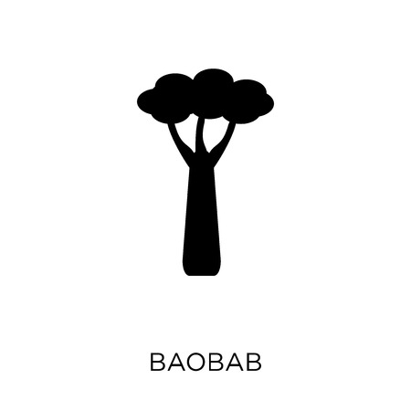Baobab icon. Baobab symbol design from Nature collection. Simple element vector illustration on white background.