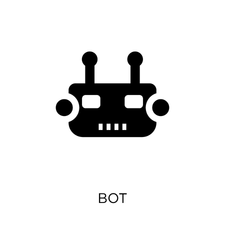 Bot icon. Bot symbol design from Internet security collection. Simple element vector illustration on white background. Illusztráció