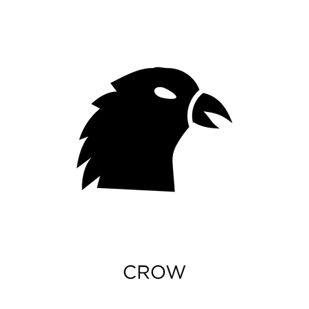 Crow icon. Crow symbol design from Animals collection. Simple element vector illustration on white background.