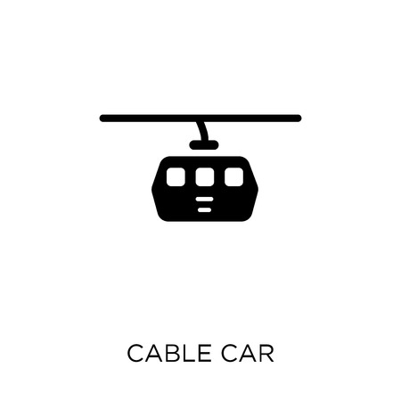 Cable car icon. Cable car symbol design from Travel collection. Simple element vector illustration on white background.