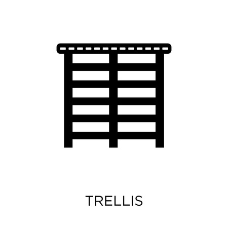 Trellis icon. Trellis symbol design from Gym and fitness collection. Simple element vector illustration on white background.