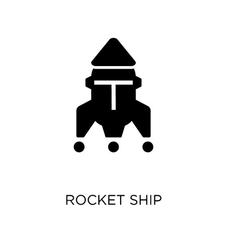 Rocket ship icon. Rocket ship symbol design from Astronomy collection. Иллюстрация