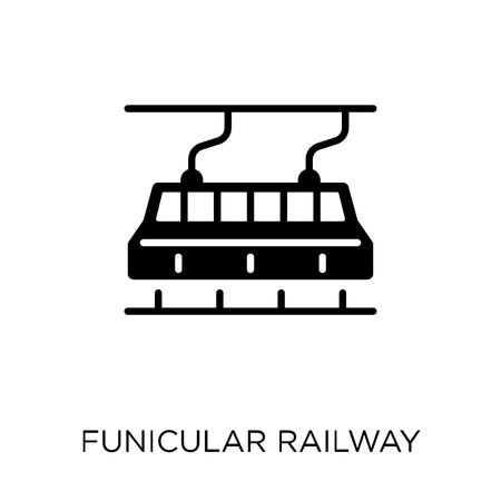 funicular railway icon. funicular railway symbol design from Transportation collection.
