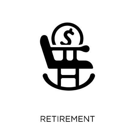 Retirement icon. Retirement symbol design from coverage collection.