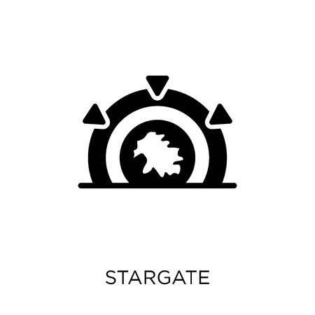 Stargate icon. Stargate symbol design from Astronomy collection. 일러스트