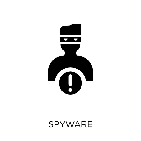 Spyware icon. Spyware symbol design from Internet security collection. Simple element vector illustration on white background.