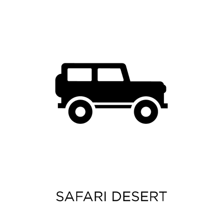 Truck for desert icon and symbol design for transportation collection. Simple element vector illustration on white background.  イラスト・ベクター素材