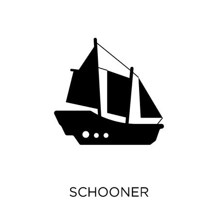 icône de la goélette. conception de symbole de goélette de la collection de transport.