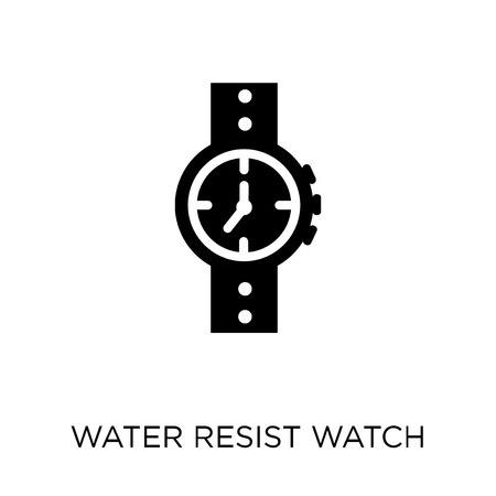 Water Resist Watch icon. Water Resist Watch symbol design from Nautical collection. Simple element vector illustration on white background. Illustration