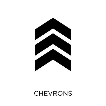 icono de galones. diseño de símbolo de galones de colección del ejército. Ilustración de vector