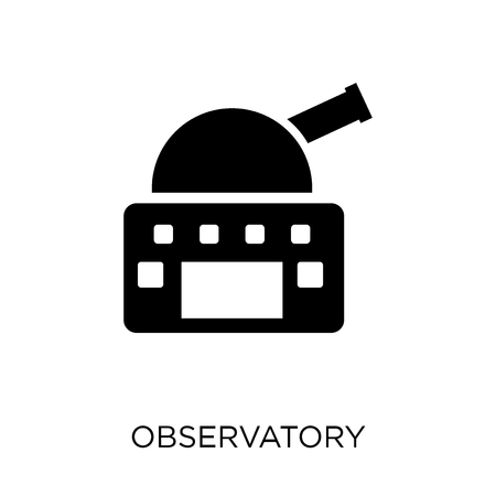 Observatory icon. Observatory symbol design from Science collection. Simple element vector illustration on white background. Vettoriali