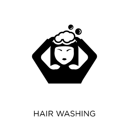 Hair washing icon. Hair washing symbol design from Hygiene collection. Simple element vector illustration on white background.