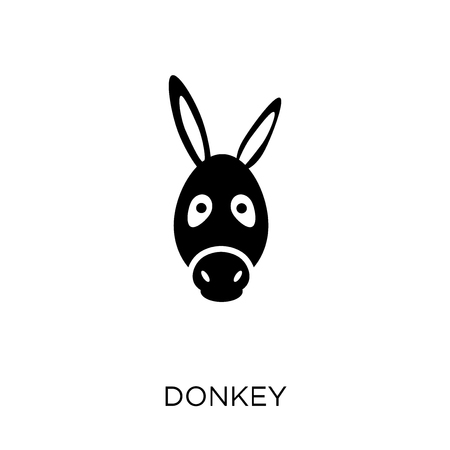 Donkey icon. Donkey symbol design from Animals collection. Simple element vector illustration on white background. Иллюстрация