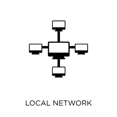 Local network icon. Local network symbol design from Networking collection. Simple element vector illustration on white background.