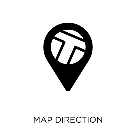 Map Direction icon. Map Direction symbol design from Maps and locations collection. Simple element vector illustration on white background. Ilustração