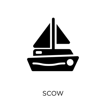 scow icon and symbol design from Nautical collection. Simple element vector illustration on white background. Ilustrace